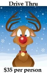 Cute cartoon Rudolph the Red-Nosed Reindeer